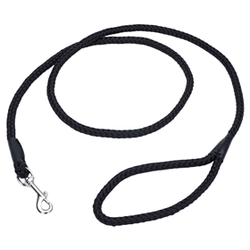 Coastal Rope Leash Black 6'  I012200