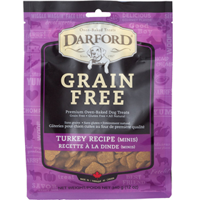 Darford Grain Free Turkey Minis Dog Biscuit 12 oz. I013613