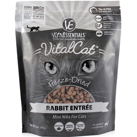 Vital Essentials Vital Cat Freeze-Dried Entrées Rabbit 12 oz. I013966