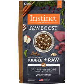 Instinct Raw Boost Grain-Free Recipe with Real Duck Dry Dog Food I014420b