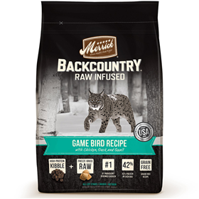 Merrick Backcountry Raw Infused Game Bird Recipe for Cats I014915b
