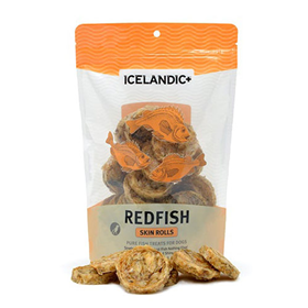 Icelandic+ Redfish Skin Rolls Dog Treat 3 oz. I015388