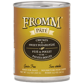 Fromm Pate Grain-Free Chicken & Sweet Potato Dog Food Can 12.2 oz I015445