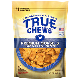 Tyson True Chews Premium Morsels Made With Real Chicken Dog Treat 11 oz. I015619