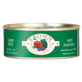Fromm Four-Star Nutritionals Lamb Pate Cat Food Can 5.5 oz. I015657