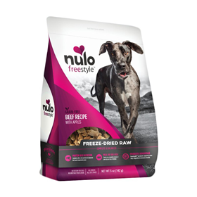 Nulo FreeStyle Grain-Free Freeze-Dried Raw Beef Recipe With Apples Dog Food 5oz I016374