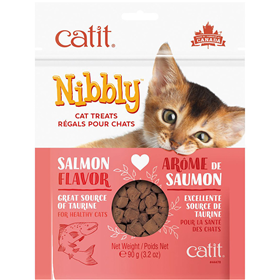 Catit Nibbly Cat Treats Salmon Formula 3.2 oz. I016425