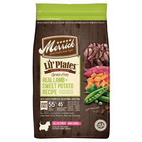 Merrick Lil' Plates Grain Free Real Lamb + Sweet Potato Dry Dog Food 12 lbs. I016692
