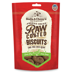 Stella & Chewy's Freeze Dried Raw Coated Biscuits Cage-Free Duck Recipe 9 oz.  I016897