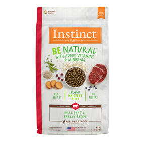 Instinct Be Natural Real Beef & Barley Recipe Dog Food I017277b