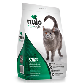 Nulo Freestyle Senior Alaska Pollock, Duck & Sweet Potato Recipe Cat Food 5 lb  I017333