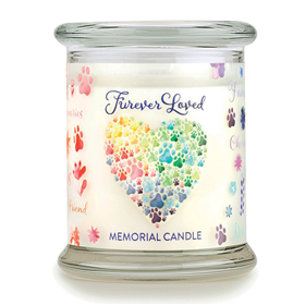One Fur All Pet House Furever Loved Memorial Candle Jar 8.5 oz. I017496