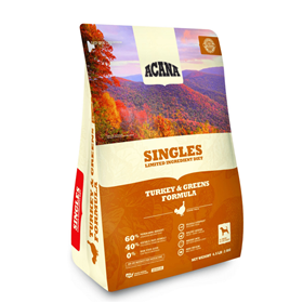ACANA Singles Turkey & Greens Formula Dog Food  I017556b