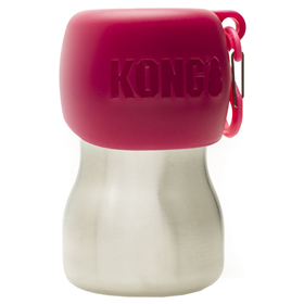 KONG H2O Stainless Steel Dog Water Bottle Pink 9.5 oz. I018192