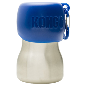 KONG H2O Stainless Steel Dog Water Bottle Blue 9.5 oz. I018197