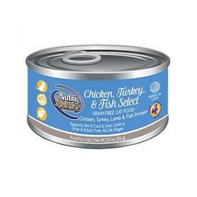NutriSource Chicken, Turkey & Fish Select Grain Free Cat Food 5.5 oz I018815