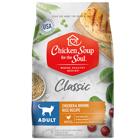 Chicken Soup for the Soul Adult Cat Chicken & Brown Rice Cat Food  I019213b