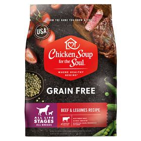 Chicken Soup for the Soul Beef & Legumes Grain Free Recipe Dog Food  I019214b