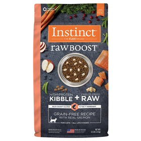 Instinct Raw Boost Grain-Free Recipe with Real Salmon Cat Food 4.5 lbs  I019646