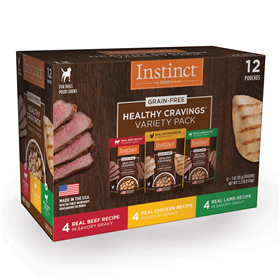 Instinct Healthy Cravings Variety Pack for Dogs 12 ct 3 oz I019985