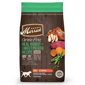 Merrick Grain Free Real Rabbit + Sweet Potato Recipe Dry Dog Food 22 lbs. I020575