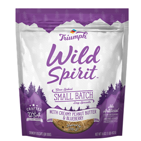Triumph Wild Spirit Small Batch Dog Biscuits with Creamy Peanut Butter & Blueberry 16 oz. I020747