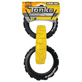 Tonka Flex 3 Ring Chew Tug Dog Toy I020756