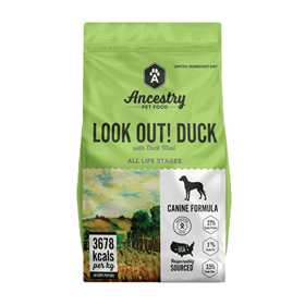 Ancestry Look Out! Duck with Duck Meal Grain Free Dry Dog Food I021057b