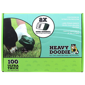 Heavy Doodie Ultra Thick Pet Waste Bags 100 ct. I022082