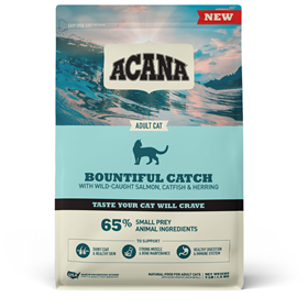 Acana Bountiful Catch with Wild-Caught Salmon, Catfish, & Herring for Adult Cats 4 lb. I023470