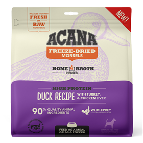 Acana Freeze-Dried Morsels High Protein Duck with Turkey & Chicken Liver Recipe for Dogs 8 oz. I023675
